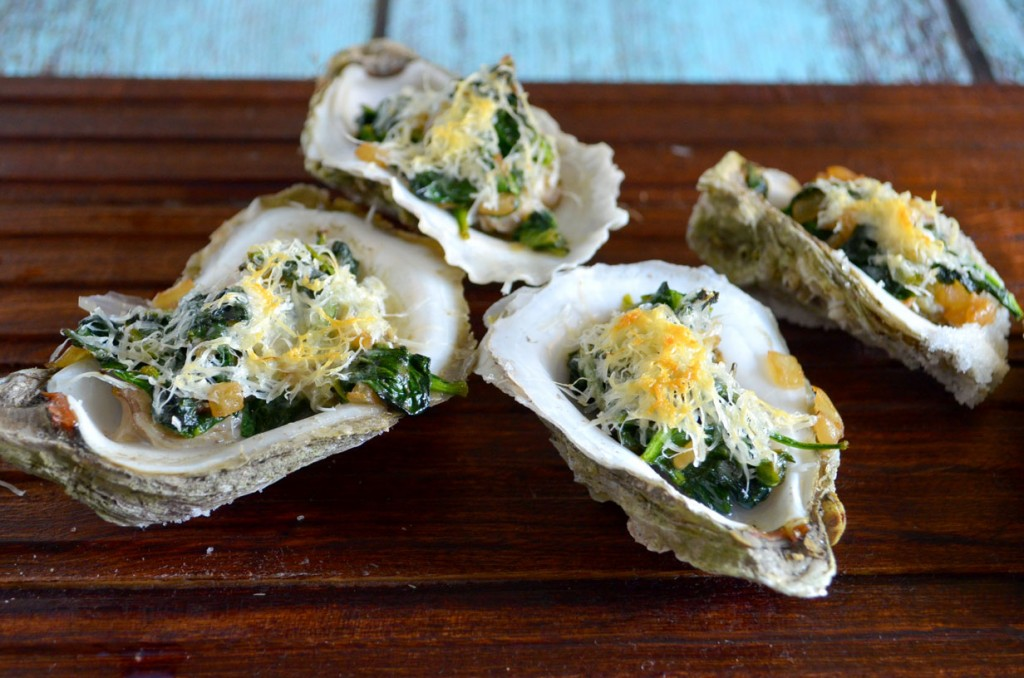 Spinach Parmesan Oysters