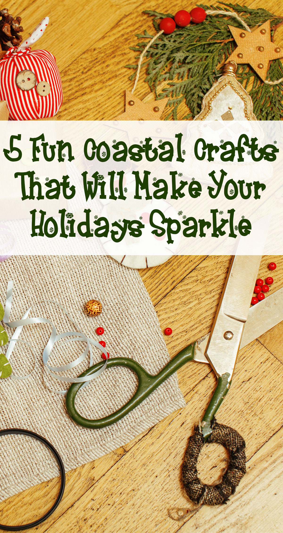 5 Fun Coastal Crafts That Will Make Your Holidays Sparkle Pin