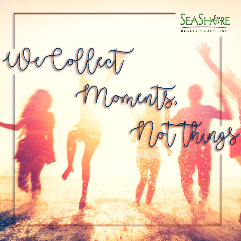 We Collect Moments, Not Things