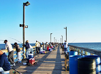 Topsail island attractions for Surf city fishing pier