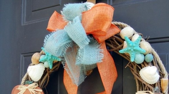 coastal inspired wreath | SeaShore Realty