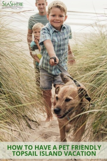 How to Have A Pet Friendly Topsail Island Beach Vacation | Seashore Realty