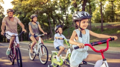 family riding bicycles | SeaShore Realty